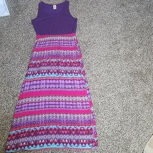 Boho/tribal print colorful maxi dress